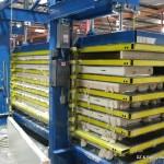 Panel Press for building walk-in cooler panels